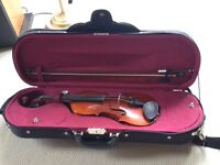 Stringers 3/4 Sonata violin outfit - case and bow included