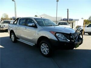 2012 Mazda BT-50 UP0YF1 GT Silver 6 Speed Manual Utility Telarah Maitland Area Preview