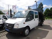 2013 FORD TRANSIT T350 DOUBLE CAB TIPPER 6-SPEED