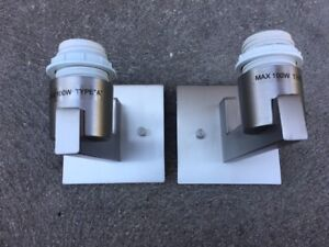 Two Satin Nickel Lamps