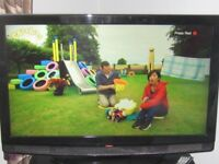 RED 37in L C D TV With Freeview