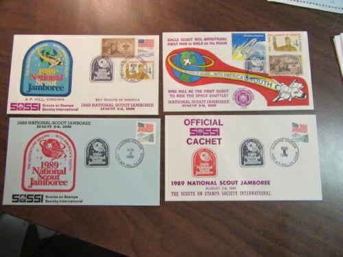 SOSSI 1989 National Jamboree Lot of 10 Cachet Envelopes    c27