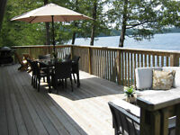 Waterfront 2 BRM cottage for rent, Palmerston Lake