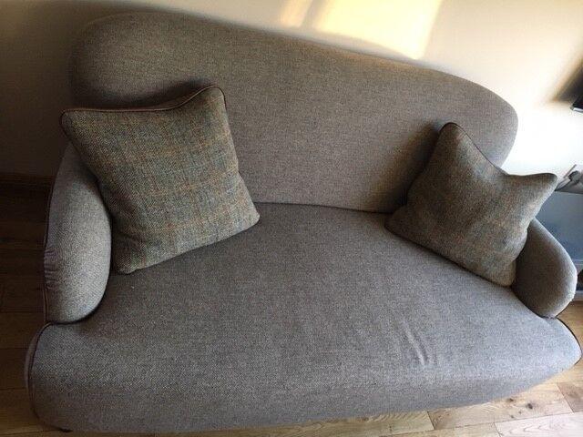 John Lewis Tetrad Petite Harris Tweed Sofa Excellent Condition 300