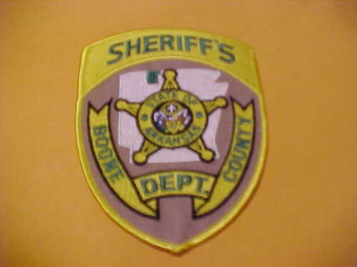 BOONE COUNTY ARKANSAS POLICE PATCH SHOULDER SIZE UNUSED
