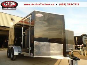LOW PRICE, ALL ALUMINUM ENCLOSED W/ RAMP DOOR - 7X14 AMERALITE!