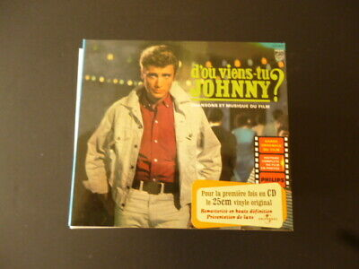 CD JOHNNY HALLYDAY - D'OU VIENS-TU JOHNNY? - PHILIPS - TTB ETAT