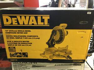 """DW 715  DEWALT COMPOUND 12"""" SLIDING BRAND NEW IN BOX NOT EVEN OP"""
