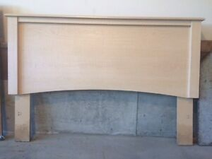 Double headboard - solid wood - whitewashed colour