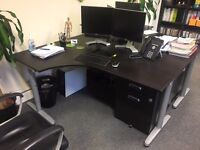 IKEA Galant Desk with accompanying drawer unit - 8 Available