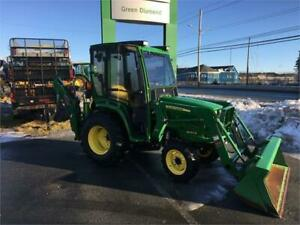 2016 JOHN DEERE 3032E WITH LOADER, CAB, AND BACKHOE