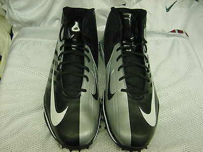 Nike Zoom Vapor Pro Turf Football Cleats Black Silver Worn Shoes Size 12.5 c78f7c296