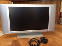 """Phillips 23"""" flat screen TV in working order, good condition, SCART socket, remote, manual"""