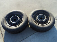 2 Moromaster Tires with Rims 195/70/14