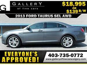 2013 Ford Taurus SEL AWD $139 bi-weekly APPLY TODAY DRIVE TODAY