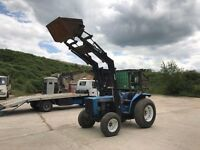 Iseki 4 wheel drive tractor with front loader
