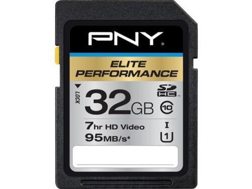 PNY 32gb Elite Performance Sdhc Uhs-i/u1 Class 10 Memory ...