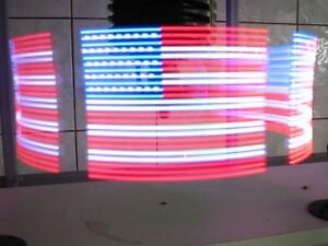 Spinning rotational graphic luminous LED programmable display