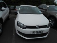 2011 Volkswagen Polo S 1.2L Petrol White 3 dr