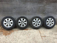 Four Aluminum Toyota Camry wheels and tires. 205/65/15 Kitchener / Waterloo Kitchener Area Preview