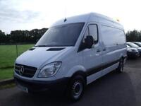 MERCEDES SPRINTER 313 CDI MWB - HIGH ROOF-FSH, White, Manual, Diesel, 2013