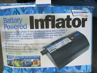 Battery powered inflator boxed