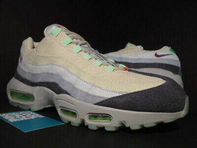 NIKE AIR MAX 95 HW QS HALLOWEEN OFF WHITE MENTA GREEN GREY ATMOS 717599-100 11.5 - Air Max 95 Halloween