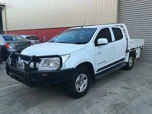 2013 Holden Colorado RG MY13 LX Crew Cab White 5 Speed Manual Cab Chassis Murarrie Brisbane South East Preview