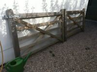 Two 6 foot farm gates (1.8m x 1.2m)