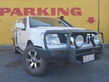 2013 Nissan Navara D40 S7 MY12 RX King Cab White 6 Speed Manual Cab Chassis Winnellie Darwin City Preview