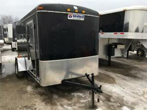 2009 United 6x12 Cargo Trailer Round Nose Barn Doors