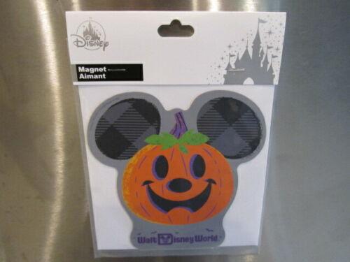 Disney Parks Car Magnet MICKEY MOUSE PUMPKIN Halloween Walt Disney World +FreeB