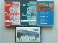 ABC TRAVEL GUIDES DESTINATION TALKING MAPS DEVON EXMOOR THE LAKES & EUROPE AUDIO BOOK CASSETTE TAPES