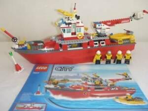 LEGO CITY FIRE BOAT SET 7207 COMPLETE INSTRUCTIONS MINIFIGURES