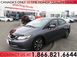 2015 Honda Civic EX 1 OWNER | NO ACCIDENTS | LOW KM'S | SUNROOF