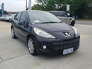 2012 Peugeot 207 A7 Series II MY12 Sportium Black 4 Speed Automatic Hatchback St James Victoria Park Area Preview