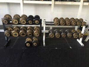 Dumbbells with rack