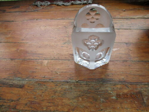 Vintage Scandinavian Crystal Art Glass Wine Bottle Holder by Kunst