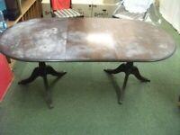 Extending Tilt Top Oval Dining Table In The Regency Style .