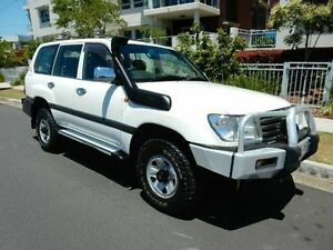 2003 Toyota Landcruiser HDJ100R GXL White 5 Speed Automatic Wagon Redcliffe Redcliffe Area Preview