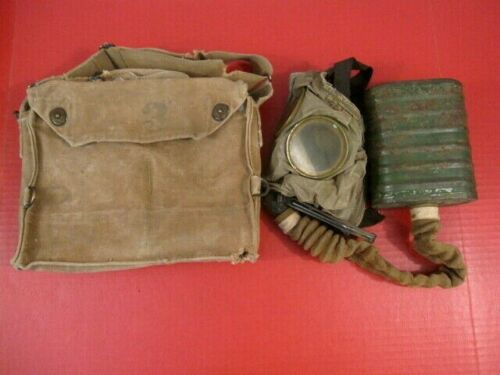 WWI Era AEF US Army Gas Mask - Complete with Canvas Carry Bag - NICE #2