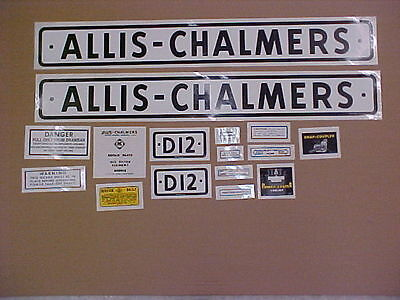 Decal Set For Allis Chalmers D12 Decal Set Tractor