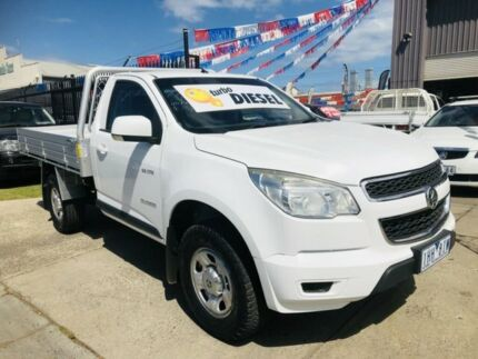 2013 Holden Colorado RG LX (4x2) White 6 Speed Automatic Cab Chassis Brooklyn Brimbank Area Preview