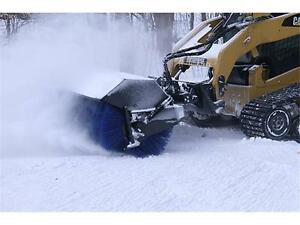 HEAVY DUTY SKID STEER ERSKINE ANGLE  BROOM SWEEPER ATTACHMENT