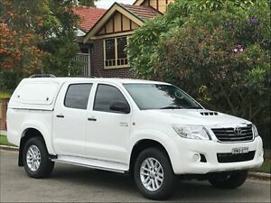 2013 Toyota Hilux KUN26R MY14 SR Double Cab White 5 Speed Automatic Utility Croydon Burwood Area Preview