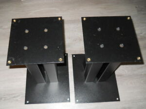Heavy duty 4 post steel speaker stands .
