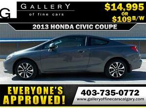2013 Honda Civic EX $109 bi-weekly APPLY NOW DRIVE NOW