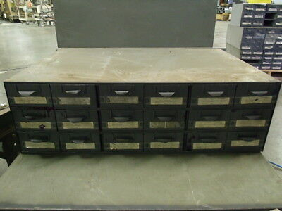 Lyon Supply Parts Bin Cabinet With 18 Drawers 34 X 23 X 10 12