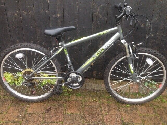Reef Mtn Ridge Mountain Bike Grey With Green Flashes And 24 Inch