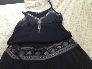 Minkes Beaded Top and Skirt